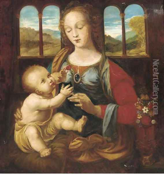 The Madonna and Child Oil Painting - Leonardo Da Vinci