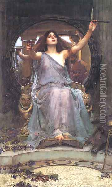 Circe Offering the Cup to Ulysses 1891 Oil Painting - John William Waterhouse