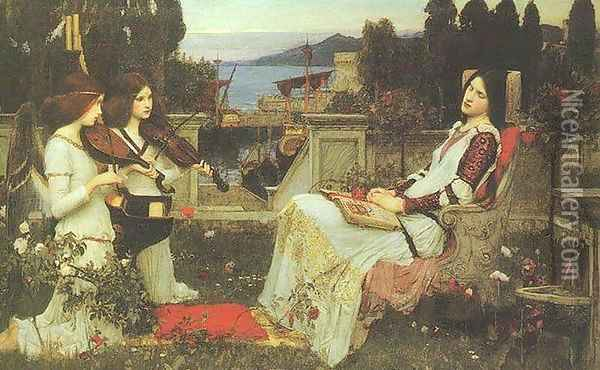 St Cecilia 1895 Oil Painting - John William Waterhouse