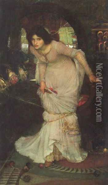 The Lady of Shalott 1894 Oil Painting - John William Waterhouse