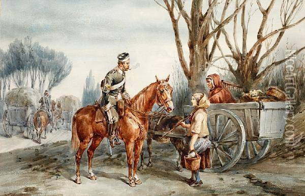 The 17th (duke Of Cambridge's Own)lancers Oil Painting - Orlando Norie