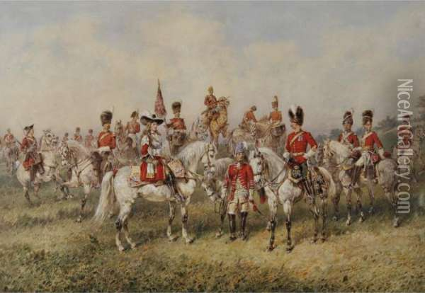 The Royal Scots Greys Oil Painting - Orlando Norie