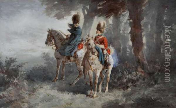 The 2nd Royal North British Dragoons Oil Painting - Orlando Norie