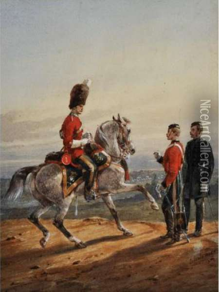 The 2nd Or Royal North British Dragoons Oil Painting - Orlando Norie