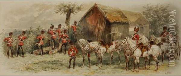 2nd Dragoons (royal Scots Greys) Oil Painting - Orlando Norie