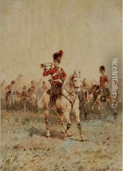 2nd Or Royal North British Dragoons Oil Painting - Orlando Norie