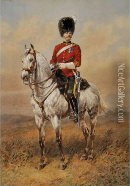 The 2nd Dragoons Oil Painting - Orlando Norie