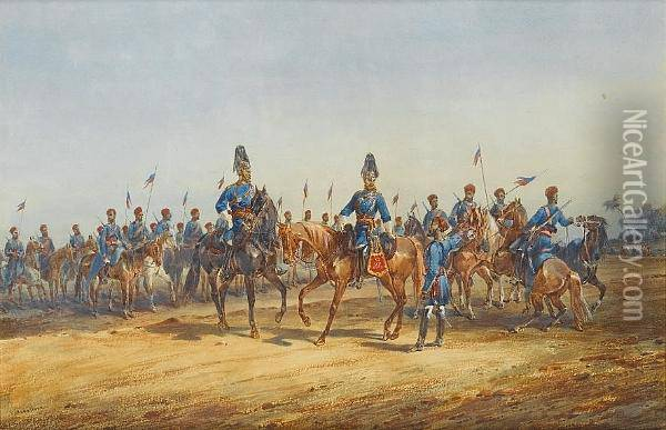 The 6th Bengal Cavalry Oil Painting - Orlando Norie