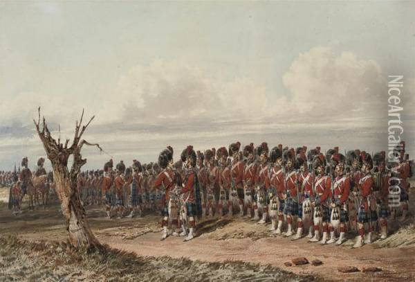 The 42nd Royal Highland Regiment Of Foot Oil Painting - Orlando Norie