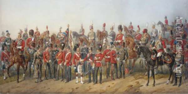 Tribute To The British Army Oil Painting - Orlando Norie