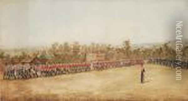 A Parade Of Cavalry Of Various 