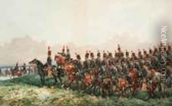 The 15th Hussars Oil Painting - Orlando Norie