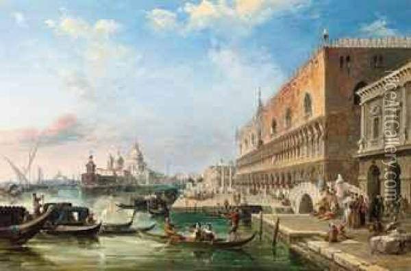 The Bacino, Venice Oil Painting - Edward Pritchett