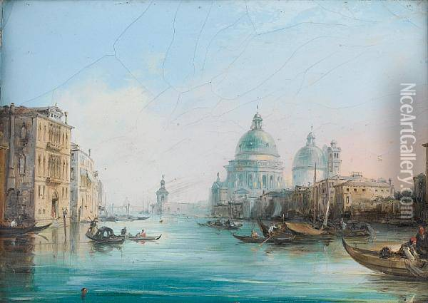 A Busy Day, Venice Oil Painting - Edward Pritchett