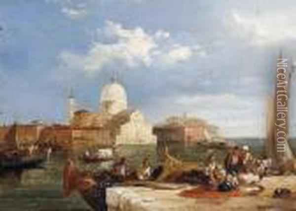 Giudecca, Venice Oil Painting - Edward Pritchett