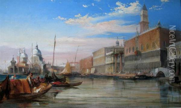 View Of The Molo Oil Painting - Edward Pritchett