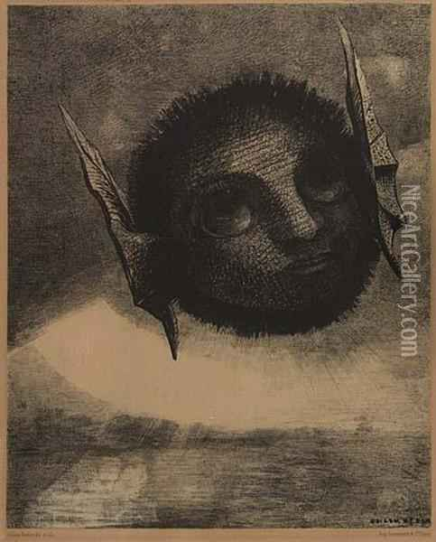 Gnome Oil Painting - Odilon Redon