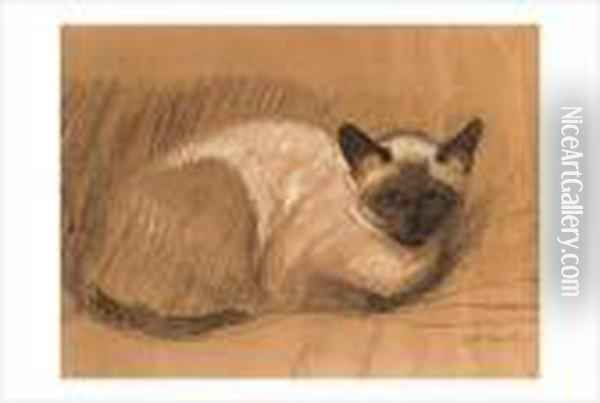 Chat Oil Painting - Theophile Alexandre Steinlen