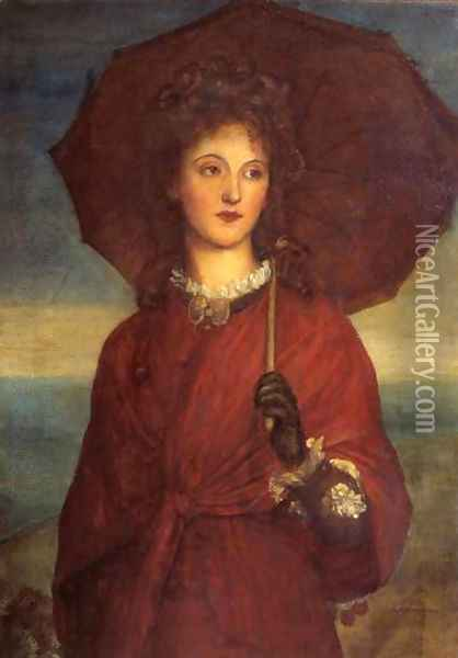 Eveleen Tennant Later Mrs F W H Myers Oil Painting - George Frederick Watts