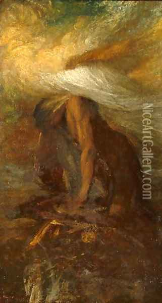 Death of Cain, c.1886 Oil Painting - George Frederick Watts