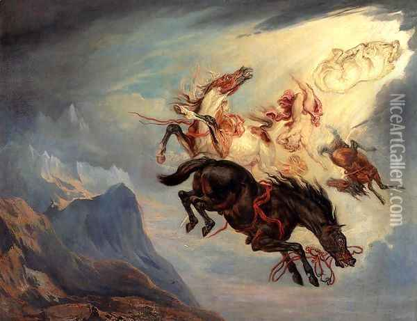 The Fall Of Phaeton Oil Painting - James Ward