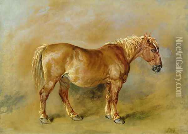 A Suffolk Punch Oil Painting - James Ward