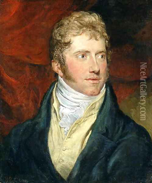 A Young Man, 1815 Oil Painting - James Ward