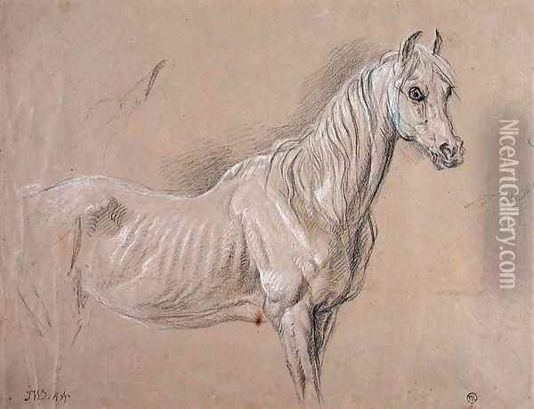 A Mare: possibly a study for LAmour de Cheval, 1827 Oil Painting - James Ward