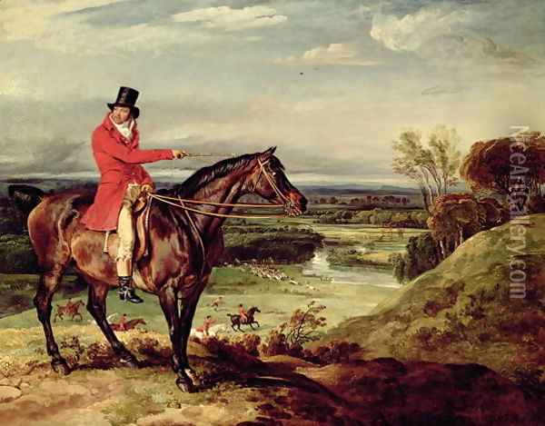 John Levett hunting in the Park at Wychnor Oil Painting - James Ward