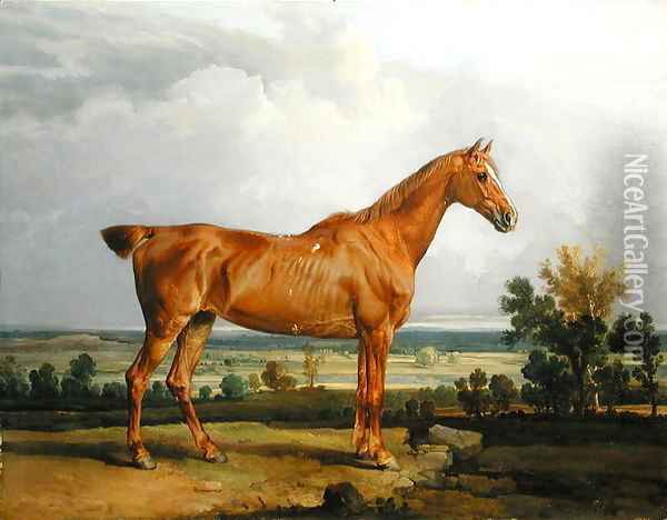 Hunter in a Landscape, 1810 Oil Painting - James Ward