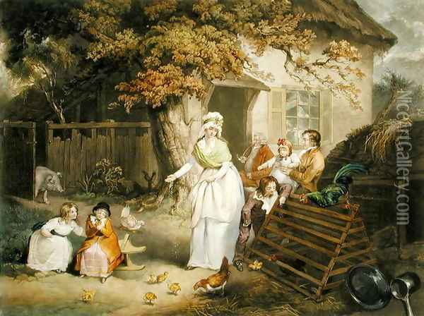 The Citizens Retreat, 1796 Oil Painting - James Ward