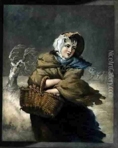 Winter, engraved by the artist, pub. c.1805 Oil Painting - James Ward