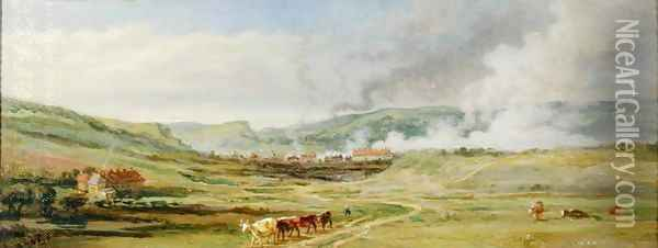 Landscape near Swansea, South Wales Oil Painting - James Ward