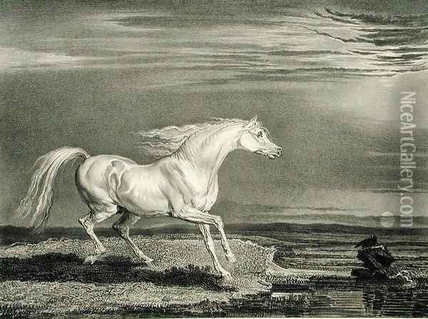 Marengo, from Celebrated Horses, a set of fourteen racing prints published by the artist, 1823-24 Oil Painting - James Ward