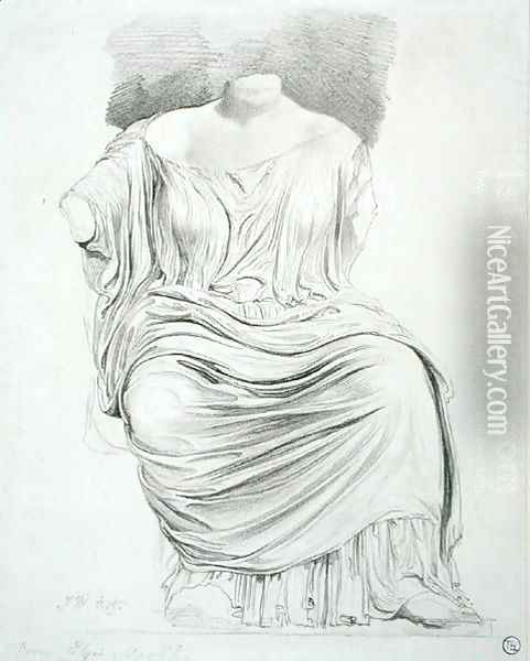 Study of Sculpture: from the Elgin Marbles Oil Painting - James Ward