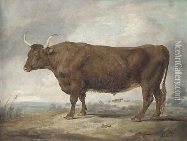 Portrait of an ox Oil Painting - James Ward