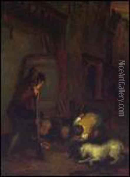 The Rat Catchers Oil Painting - Sir David Wilkie