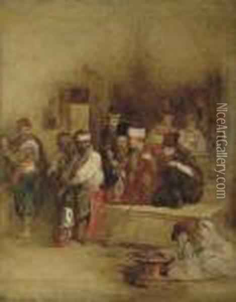 The Tartar Messenger Narrating The Fall Of Acre, Unfinished Oil Painting - Sir David Wilkie