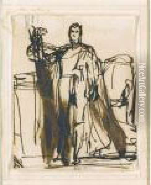 A Study For A Full-length Portrait Of William Iv (1765-1837) Oil Painting - Sir David Wilkie