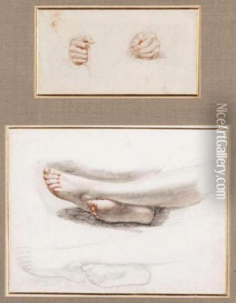 Study Of Hands And Feet Oil Painting - Sir David Wilkie