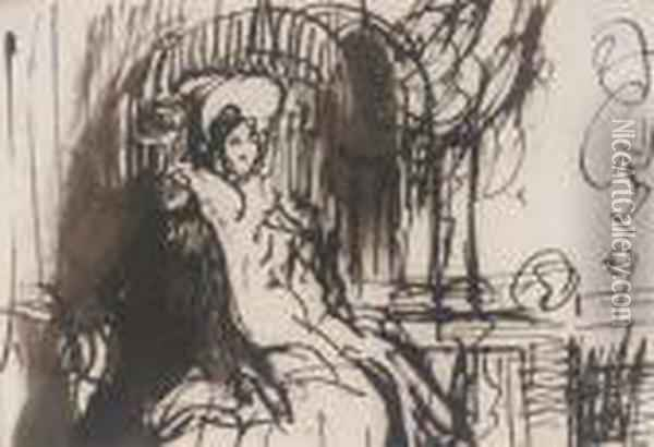 A Study Of Two Young Ladies Of Fashion Oil Painting - Sir David Wilkie