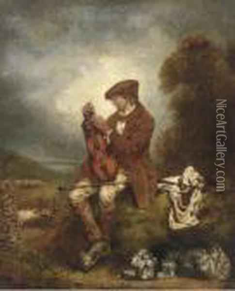 The Young Fiddler Oil Painting - Sir David Wilkie