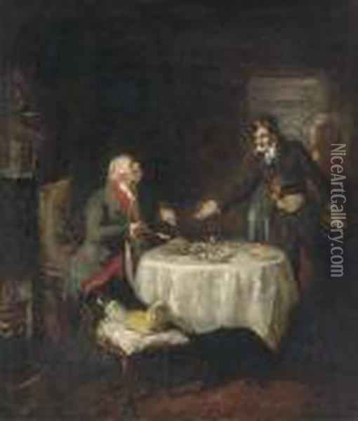 The Stubborn Patient Oil Painting - Sir David Wilkie