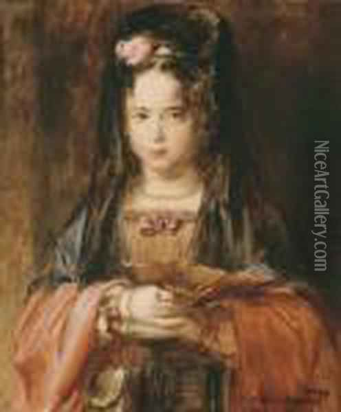 The Spanish Girl Oil Painting - Sir David Wilkie
