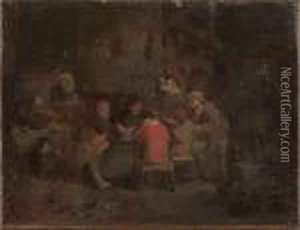 The Card Players Oil Painting - Sir David Wilkie