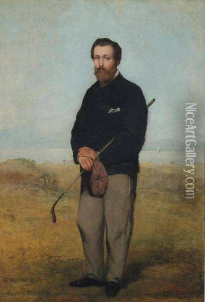 A Gentleman Golfer Oil Painting - William Aikman