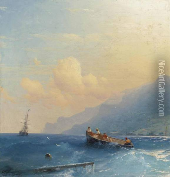 Searching For Survivors Oil Painting - Ivan Konstantinovich Aivazovsky