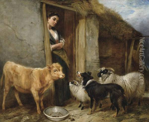 The Shepherd's Home Oil Painting - Richard Ansdell