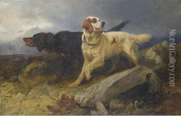 Setters On The Scent Oil Painting - Richard Ansdell