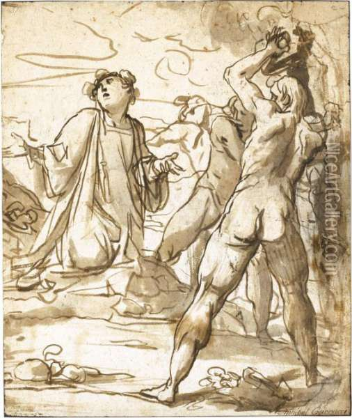 The Stoning Of St. Stephen Oil Painting - Giovanni Baglione